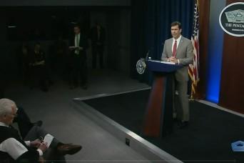 Secretary of Defense Visits USAMRDC, Delivers COVID-19 Response Plan