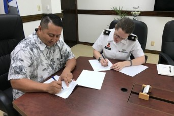 U.S. Army Corps of Engineers, CNMI sign agreement for Saipan Beach Road Storm Damage Reduction study