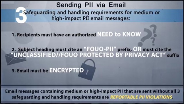 Sending PII via Email