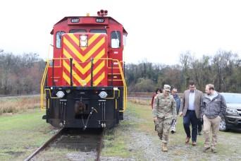 FORT STEWART, Georgia- U.S. Army Lt. Gen. (retired) William G. Webster, Coastal Georgia Military Affairs Coalition representative, PJ Waldrop, state dir...