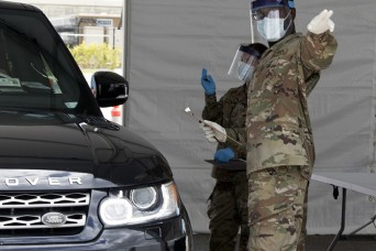 Florida National Guard opens COVID-19 testing site at stadium