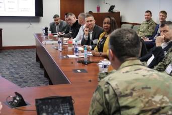 Services talk talent management at quarterly meeting