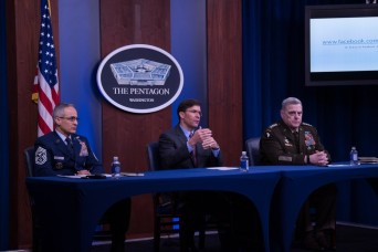 Esper lists top DOD priorities during COVID-19 pandemic