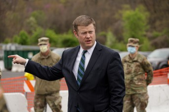 Army secretary: Soldiers at the 'tip of the spear' in COVID-19 fight