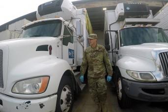 California Guard use civilian driving skills to help community