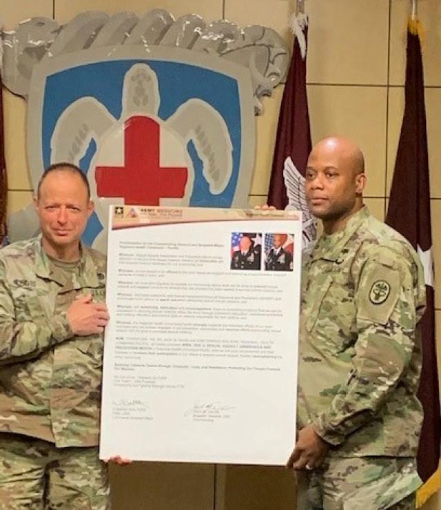 RHC-P Command Team Signs Proclamation