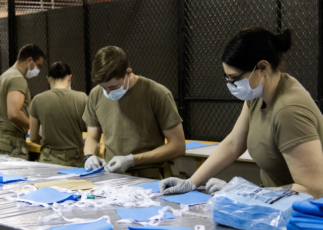 1st Special Forces Group (Airborne) Soldiers make protective masks, Fight COVID-19