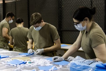 Soldiers make protective masks in fight against COVID-19