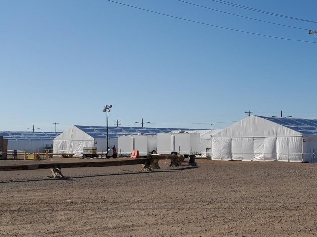 MICC-Fort Bliss team assists quarantine area setup