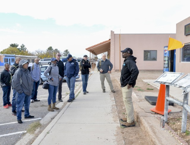 Picture previously taken- Students of the Sergeants Major Academy, Class 70 provide briefs of the events and lessons learned during the Department of Professional Studies staff ride to New Mexico, Nov. 20, 2019. During the trip the students go through 12 different stands to explain the significant events around Pancho Villa's raid on New Mexico in March of 1916.