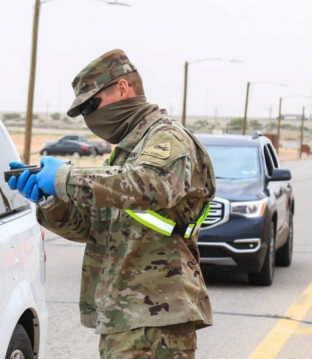 Soldiers are authorized to wear the neck gaiter and other cloth items, such as bandanas and scarves, as face coverings. Soldiers should not, however, fashion face coverings from Army Combat Uniforms or other materials that have been chemically-treated. Personal protective equipment, such as N95 respirators or surgical masks, must be reserved for use in medical settings.