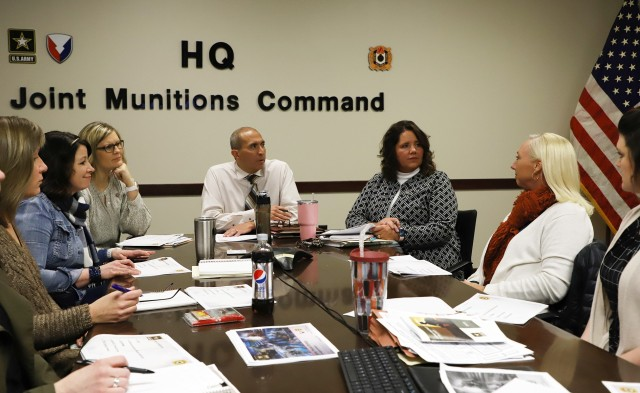Joint Munitions Command hosts an Army People Strategy with other commands across Rock Island Arsenal to coordinate a successful collaboration.