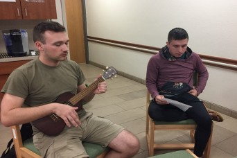 WTB Soldiers use traditional Hawaiian instrument to cope with PTSD
