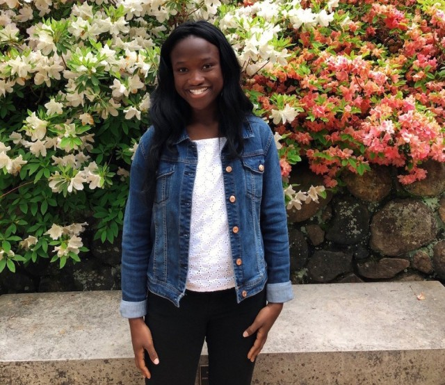 Christiana Adeyemi, daughter of Army Maj. Tolulope Adeyemi, has been accepted to eight prestigious universities, including two Ivy League schools and the U.S. Military Academy at West Point, New York. (Photo courtesy Maj. Tolulope Adeyemi)