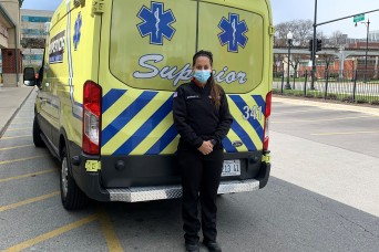University of Illinois Cadet helps out on the front line of COVID-19