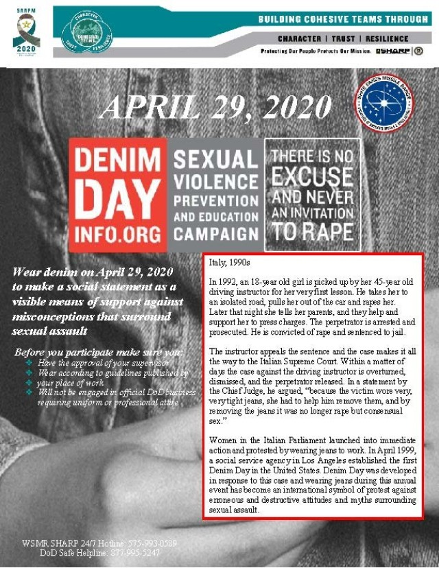 Wear Denim on April 29 to Show Your Support for Sexual Assault Prevention