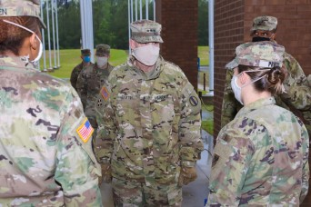 TRADOC deputy CG visits Benning to see safety measures after shipping Soldiers resumes