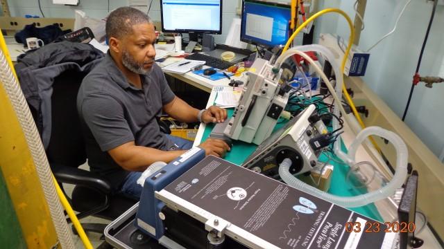 Inspecting a ventilator