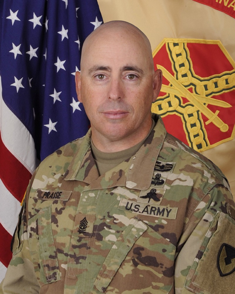 Command Sgt. Maj. James J. Prasse