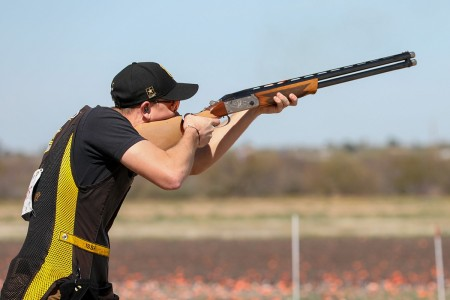 U.S. Army Sgt. Christian Elliott competes in the Skeet Olympic Trials in Tucson, Ariz., March 5-8. Elliott, who is a shooter/instructor for the U.S. Army Marksmanship Unit's Shotgun Team at Fort Benning, Ga., finished tenth in the Trials.
