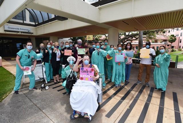 Tripler COVID-19 Patient Celebrates