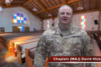A virtual chapel service for Easter Sunday with Chaplain (Maj.) David Hicks