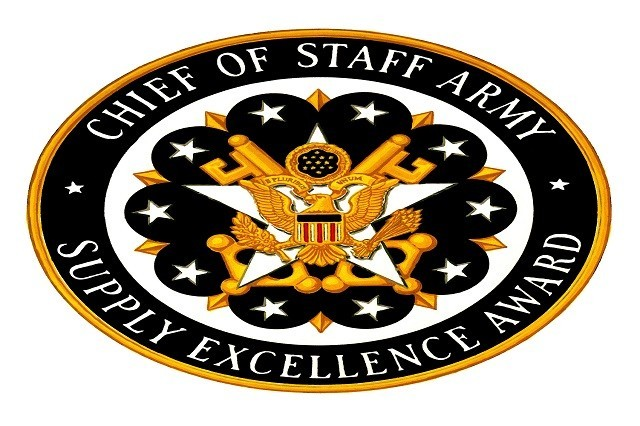 The Chief of Staff Army, Supply Excellence Award plaque.