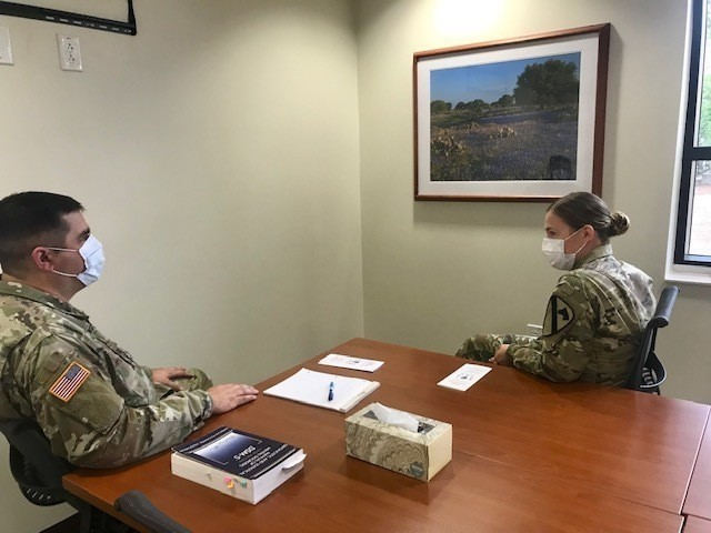 Soldiers are able to receive services at 3rd Brigade Combat Team's behavioral health clinic while still implementing safety measures during COVID-19.