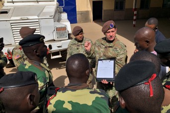 1st SFAB begins advising mission to Africa with vehicle maintenance training in Senegal