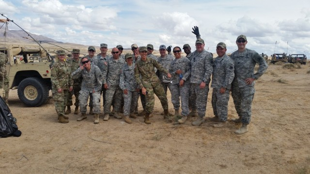 Cpt. Sean Donohue at Fort Irwin, CA in 2016