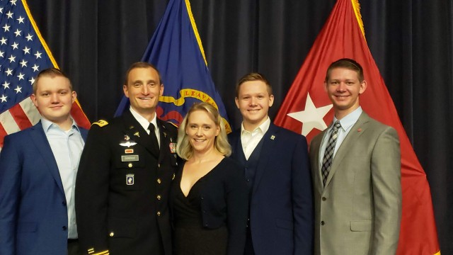 Physician Assistant Maj. Sean Donohue and his family