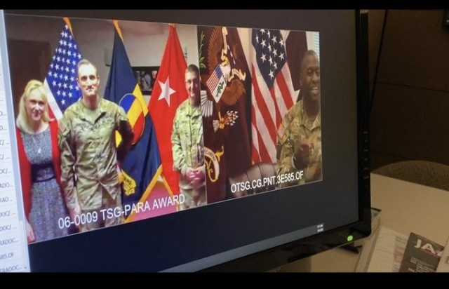 45th Army Surgeon General Awards TSG-PARA via Teleconference
