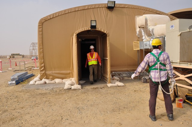 JOC is a contract vehicle that provides an alternative method to fulfill requirements for sustainment, restoration, and modernization projects at the installation, post, camp or station level. TAM has used JOC task orders for work in Kuwait for more than 20 years, including this Kuwaiti work site from 2011. (Photo credit Erickson Barnes)