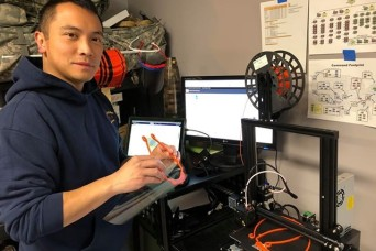20th CBRNE Soldiers join local group to volunteer 3D printing capabilities to aid COVID-19 healthcare workers