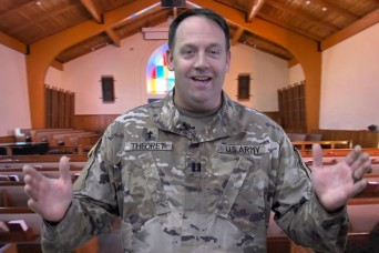 A virtual chapel service with Chaplain (Capt.) Leo Theoret