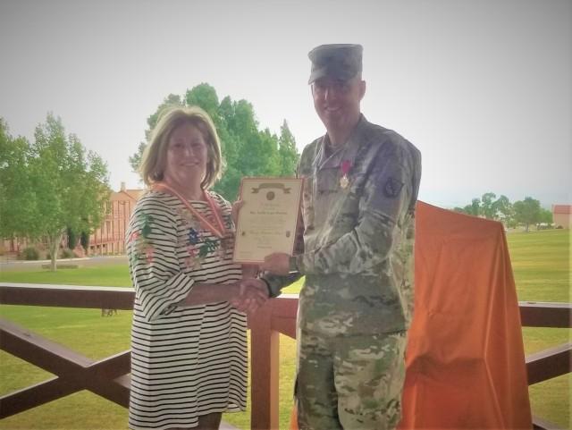 Mrs. Leslie Norton receives her appreciation award