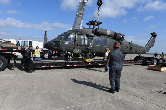 CCAD transfers UH-60 helicopter to Wichita State University.