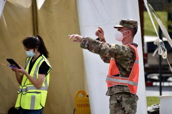 Maryland military police support COVID-19 test site
