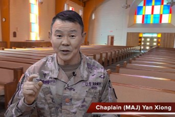 A virtual Memorial Day chapel service with Chaplain (Maj.) Yan Xiong