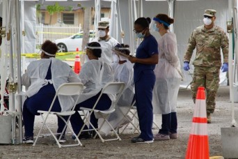 Florida National Guard supports two new walk-up test sites