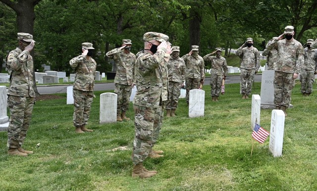 """Army Chaplains participate in """"Flags In' tribute"""