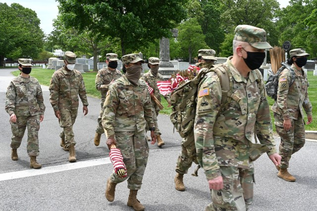 Army Chaplains gather for Flags In tribute