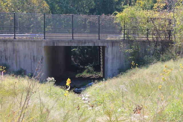 Fort Belvoir has 25 wildlife crossings under busy roadways to reduce wildlife vehicle strikes. A 2018 survey used trail cameras to document the number of animals, species composition, predation, and timing of culvert use.  Camera documentation was also used to evaluate wildlife avoidance of the crossings to improve culvert designs.