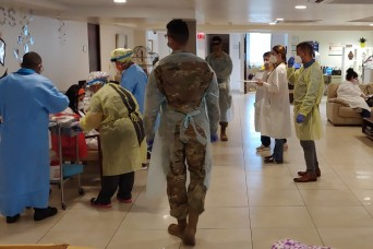 Puerto Rico Guard tests for COVID-19 in nursing homes
