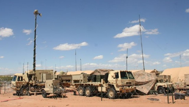 A command post is set up for an exercise at Fort Bliss, TX., on May 18, 2020. (Courtesy Photo)
