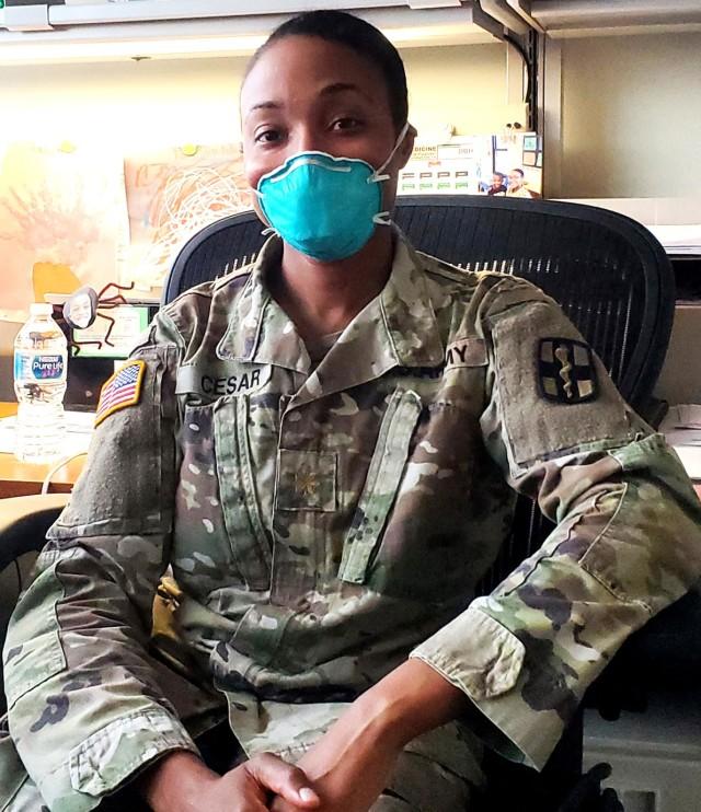 Maj. Ashley Cesar, chief of behavioral health for the Bayne-Jones Army Community Hospital.