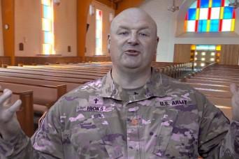 A virtual chapel service with Chaplain (Maj.) David Hicks