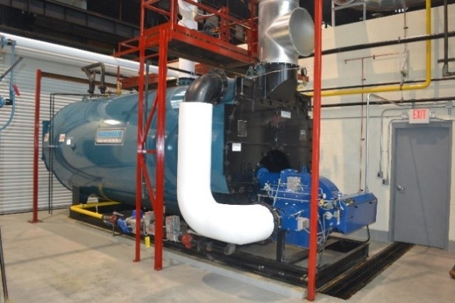 SCAAP's new production shop package boiler results in a cost avoidance of $40,000:  $25,000 in manpower and $15,000 in energy costs annually.