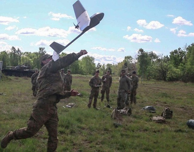 Spartan cavalry scouts with 6th Squadron, 8th Cavalry Regiment conducted a re-certification course for the AeroVironment RQ-11 Raven surveillance system May 18-22 at Glebokie, Drawsko Pomorski Training Area, Poland.