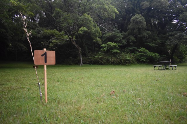 One of the eight campsites in Dewey Park at Camp Zama, Japan.
